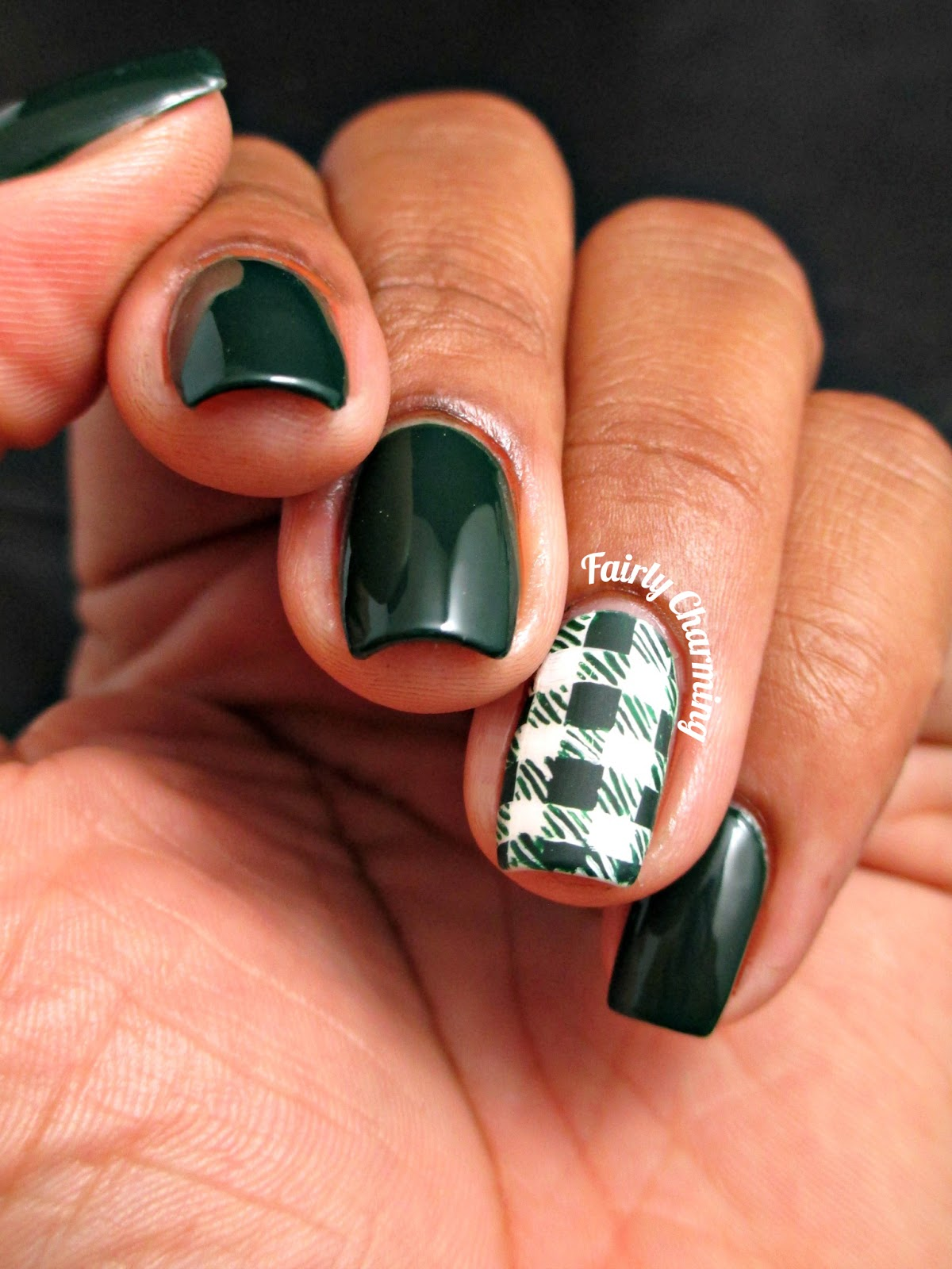 OPI, Christmas Gone Plaid, Flannel, Plaid, Nails, Nail Art, Nail Design, Mani