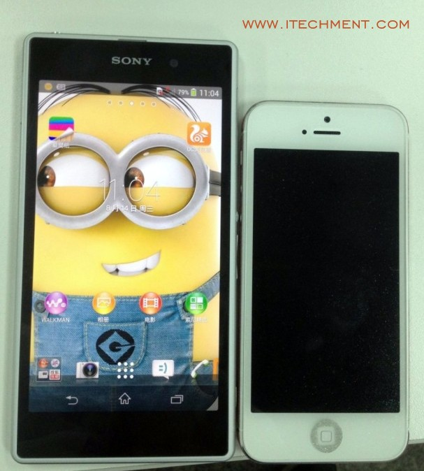 Sony Xperia Honami i10 compared with iphone 5