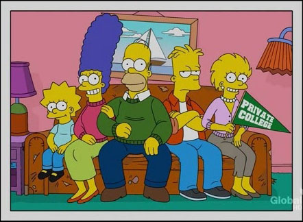 The Simpsons christmas photo cards
