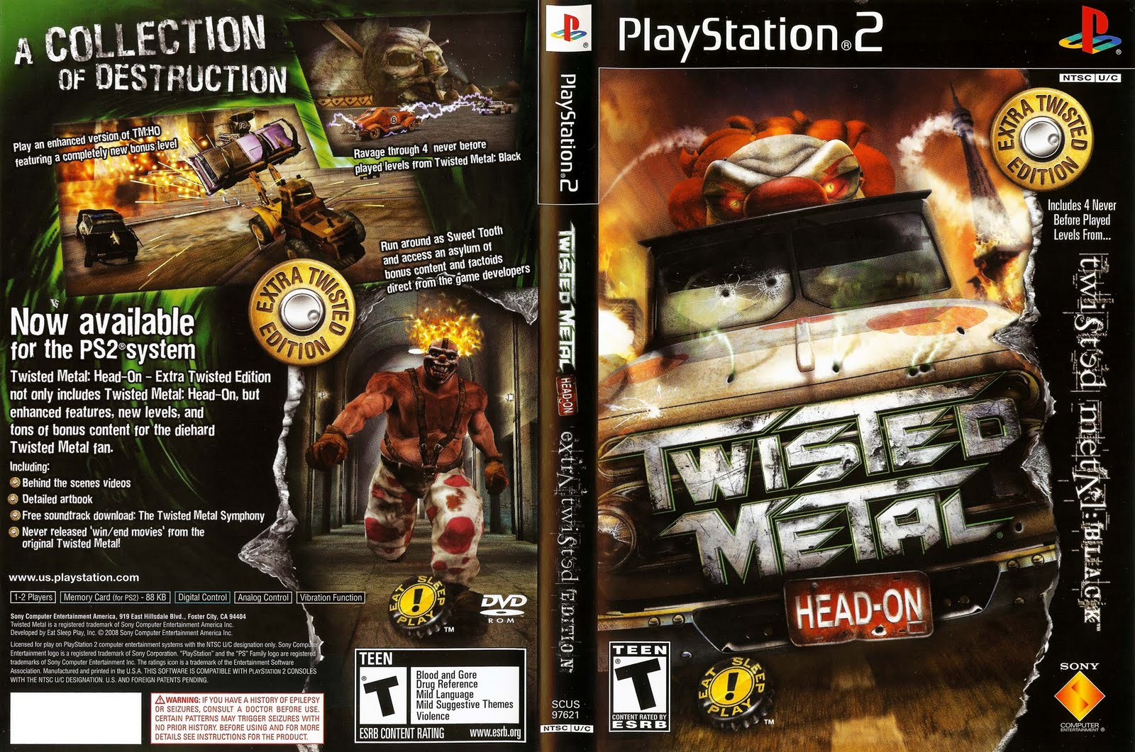 Download Game Ps2 Twisted Metal Black ISO Psx Free