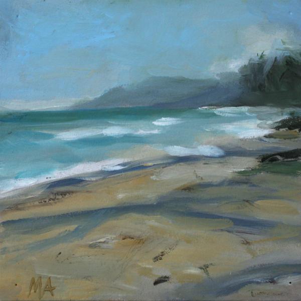artinko sandy beach khanom oil painting