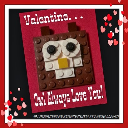 Searching for the perfect Valentine?  Why not make LEGO Valentines!  Building Legos with Christ.blogspot.com