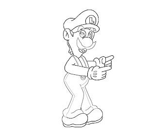 #12 Luigi Coloring Page