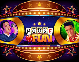 Loading screen of House of Fun Elvis Slots