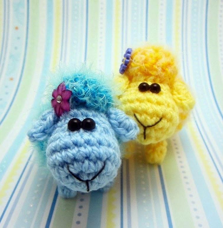 Милые овечки амигуруми