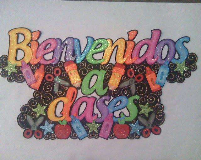 Letreros bienvenidos a clases - Imagui