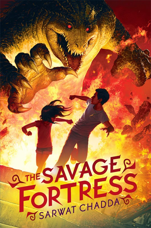 http://www.amazon.com/Savage-Fortress-Sarwat-Chadda/dp/0545385172/ref=sr_1_1?s=books&ie=UTF8&qid=1420070559&sr=1-1&keywords=the+savage+fortress