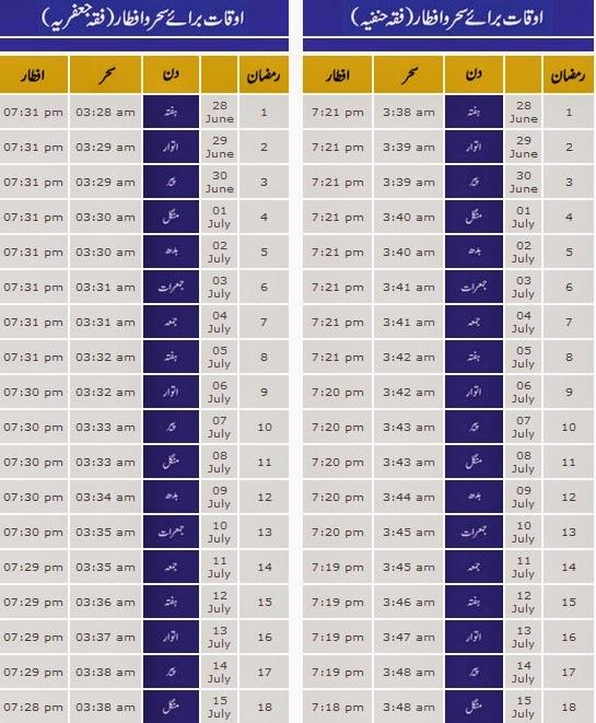 ... Ramzan mubarak calander 2014.Multan ramadan ul mubarak 2014 calendar