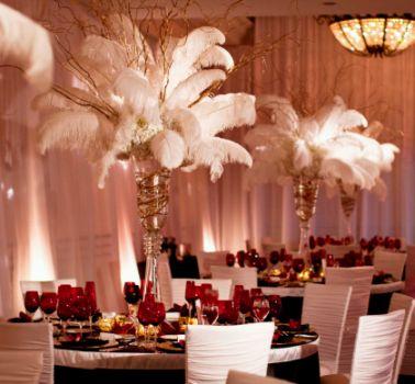 Tall flowers and centerpieces for weddings for Arreglos de mesa para boda
