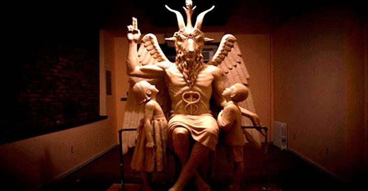 Primeira Marcha para Satanás no Brasil - Estátua Para o Satanás em Detroit