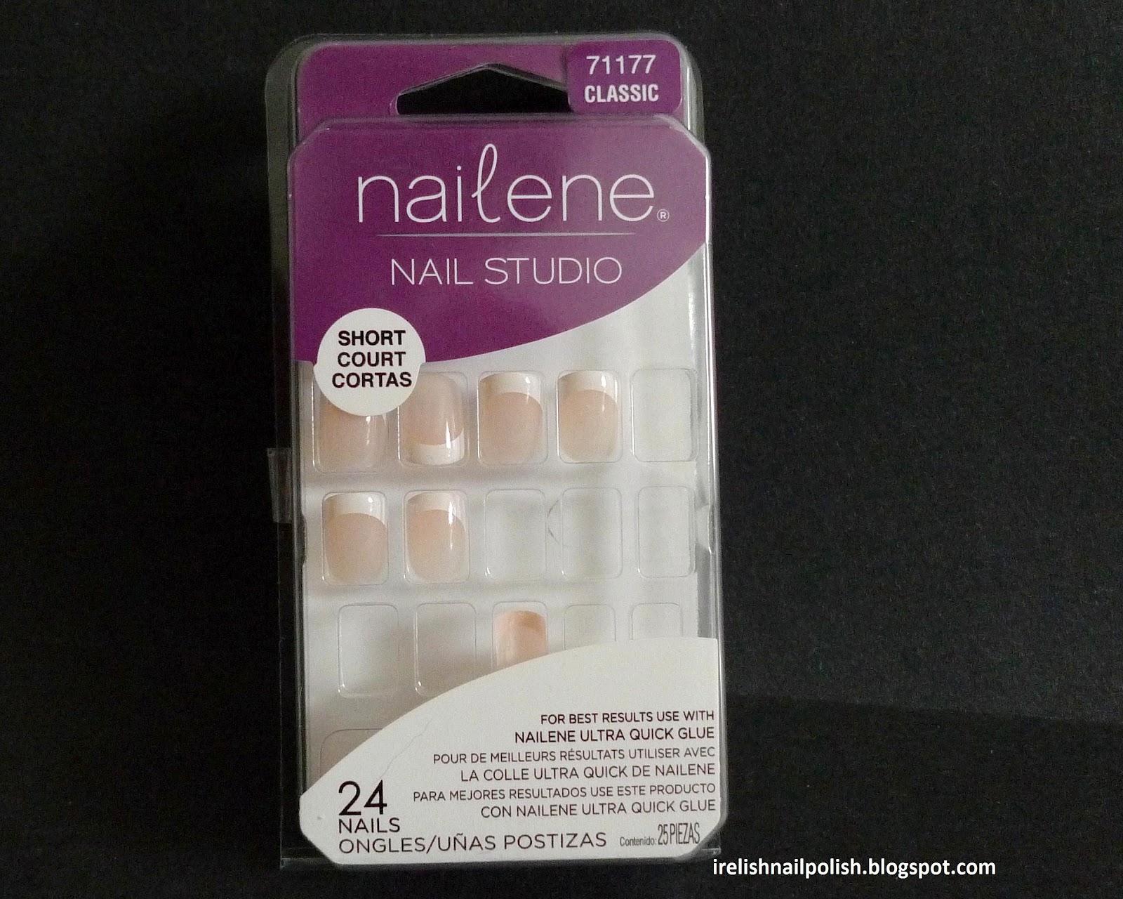 I Relish Nail Polish!: Nailene Fake Artificial Drugstore French Nails
