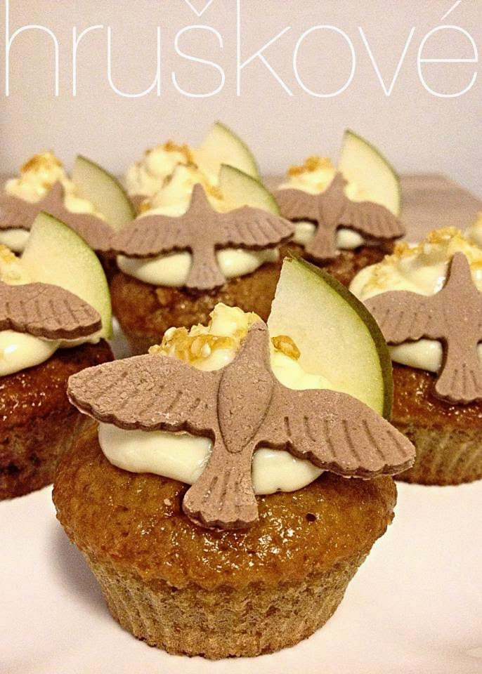 Hruškové cupcakes
