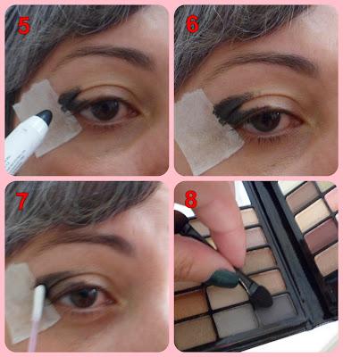 maquiagem olho grafite cinza esfumado