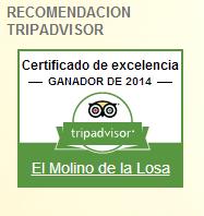 Certificado de Excelencia 2014 - Tripadvisor