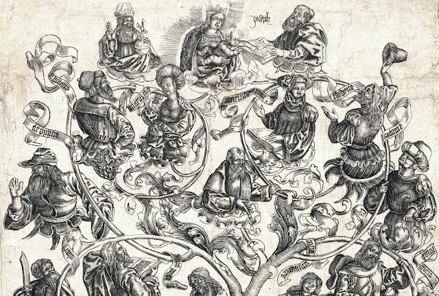De stamboom van Maria, Anonymous, Meester W met de Sleutel, 1500 - 1550