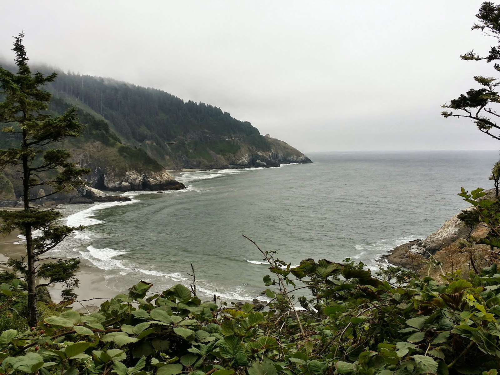 view from the trail to Heceta Head Lighthouse