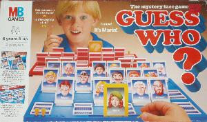 Guess Who? board game box.
