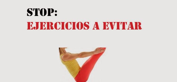 ejercicios a evitar para el suelo pelvico