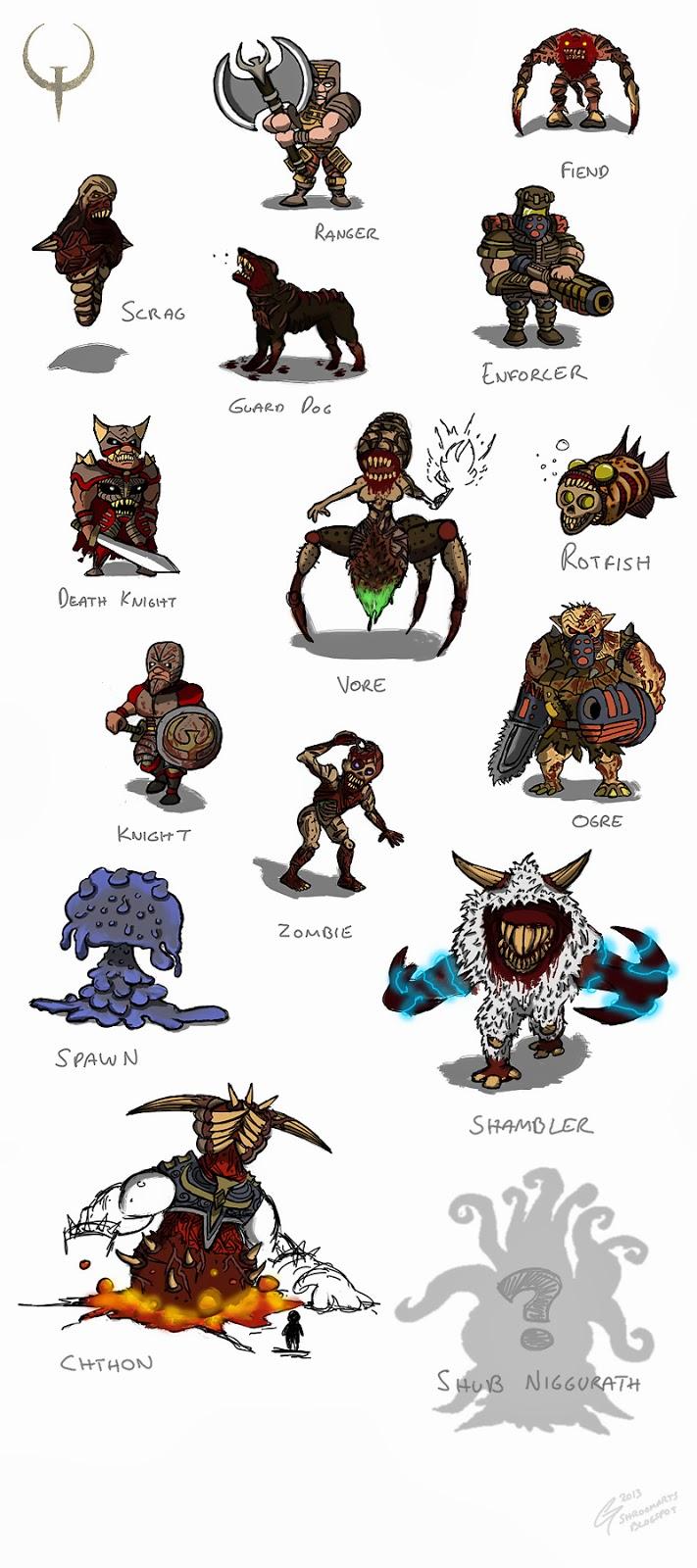 Quake 1 enemies