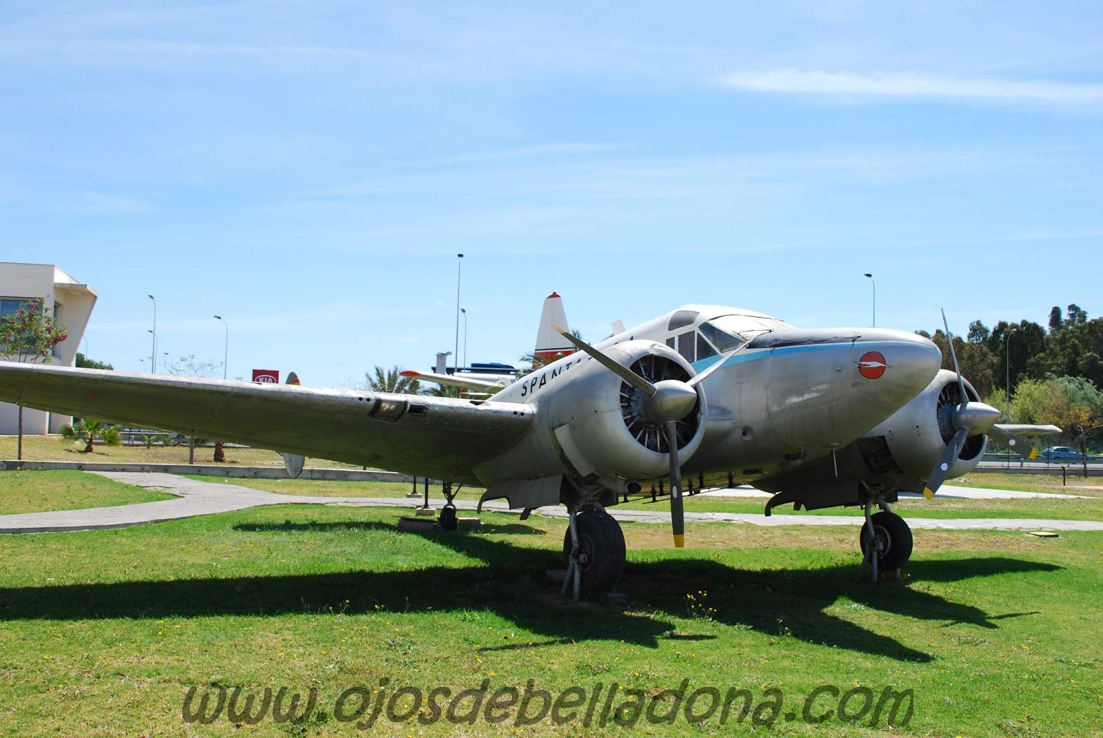Beechcraft Spantax Museo de la Aviación Málaga
