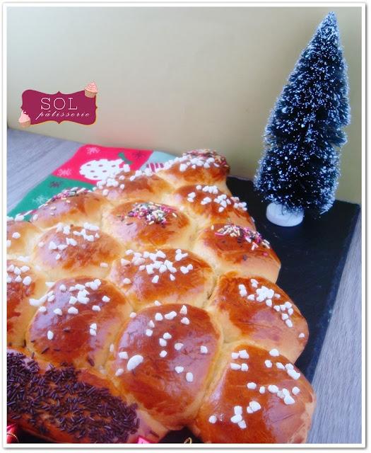 Sapin de Noël brioché - Brioche em forma de arvore de Natal