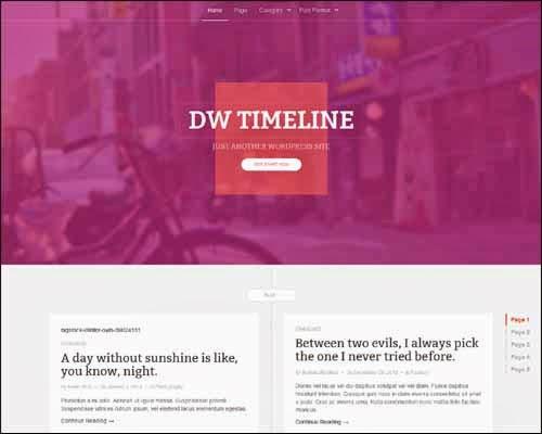 DW Timeline Free WordPress Theme