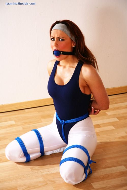 Very Girls in bondage wearing spandex will