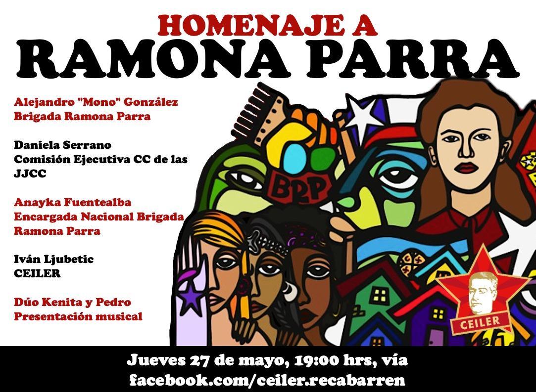 HOMENAJE CEILER A RAMONA PARRA