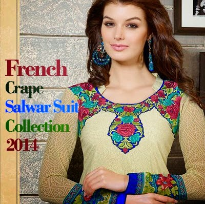 Arina Crape Salwar Kameez Collection 2014