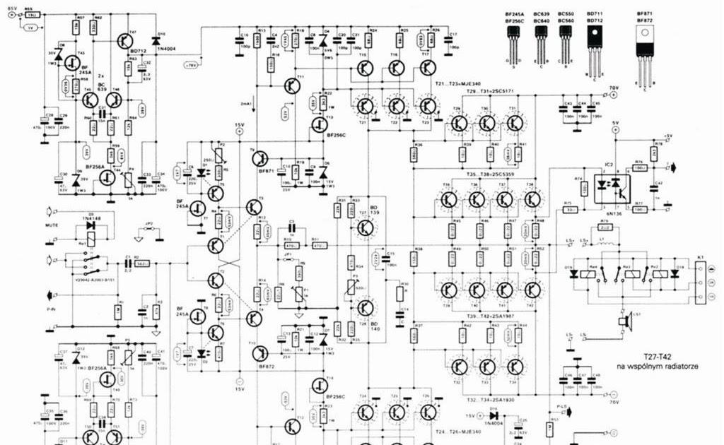 rangkaian power  skema ragkaian power amplifier 1000 watt