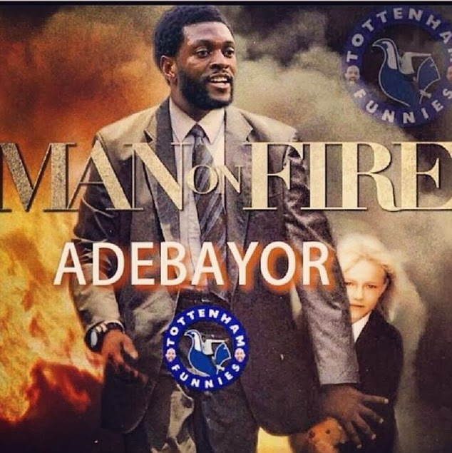Adebayor Man on Fire