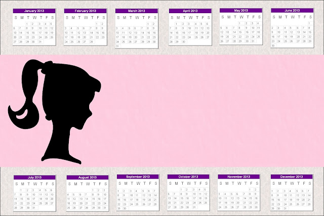 Calendario 2013 de Barbie Silueta.