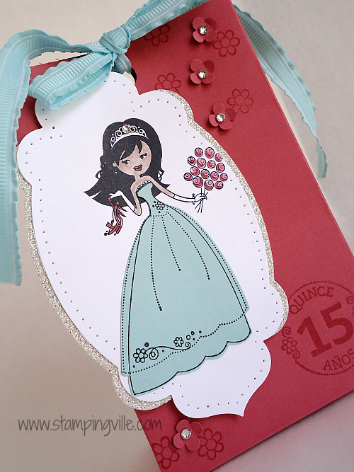 Party Bag with Paper-Piecing, Glimmer Paper & Rhinestones