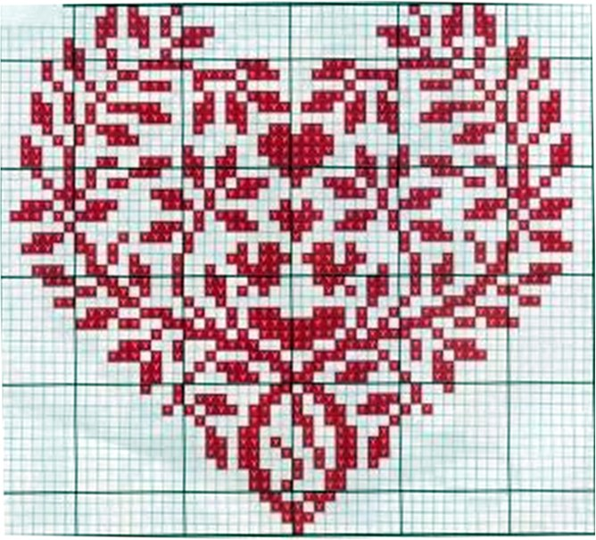 Сердечки для вышивки крестом