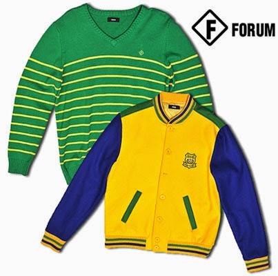 Jaqueta e tricot Forum para o Mundial 2014 Brasil
