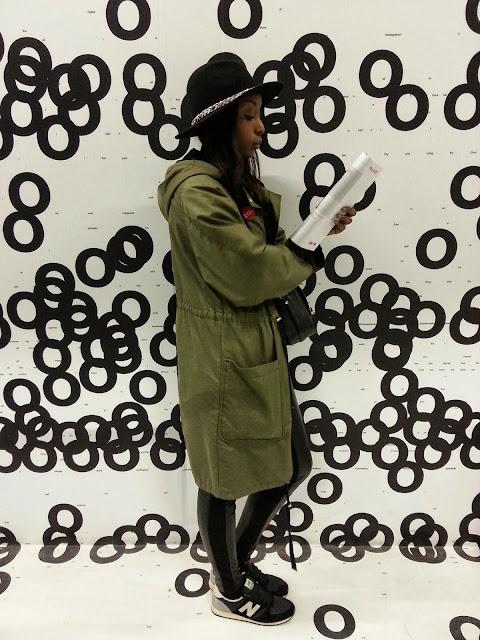 Parka h&m, sac zara, zara, isabel marant, look, blog, mode, outfit, chapeau zara, 2013, black, blogueuse noire, new balance 420
