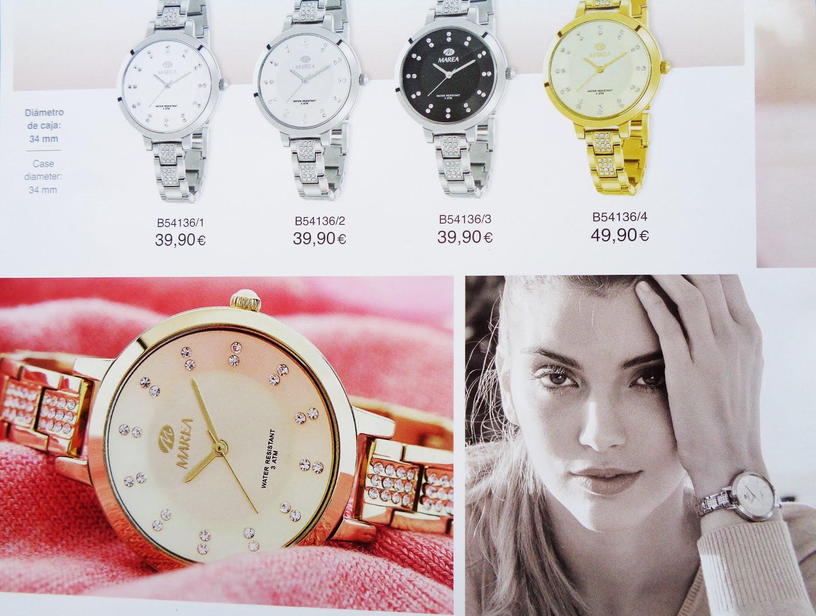Reloj chica dorado
