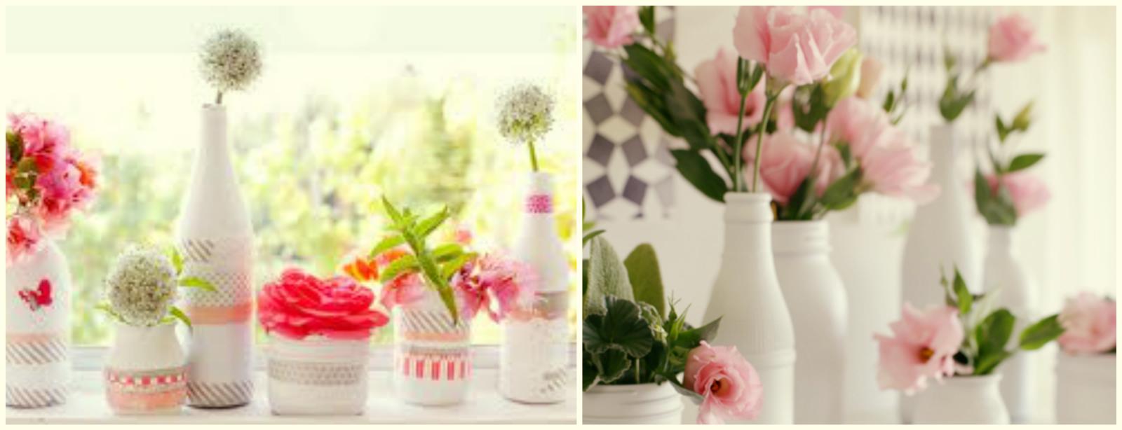 decoracao casamento garrafas de vidro:decoração de chás de panela, aniversários, e até casamentos de
