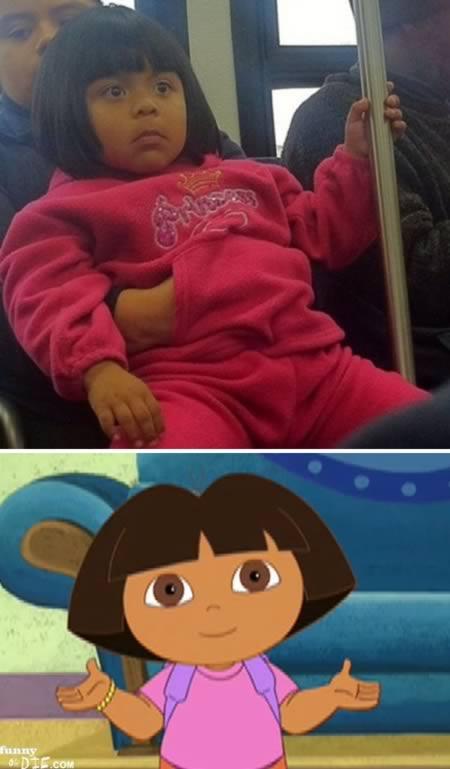 15 Orang yang Mirip Tokoh Kartun: Dora the Explorer