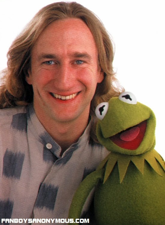 Jim Henson Company's John Henson in the 1990's with Muppet Kermit