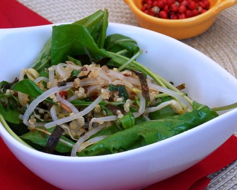 Salada de Broto, Sementes e Alga (vegana)