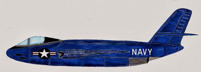 Vought V-346B F7U Cutlass alternative design