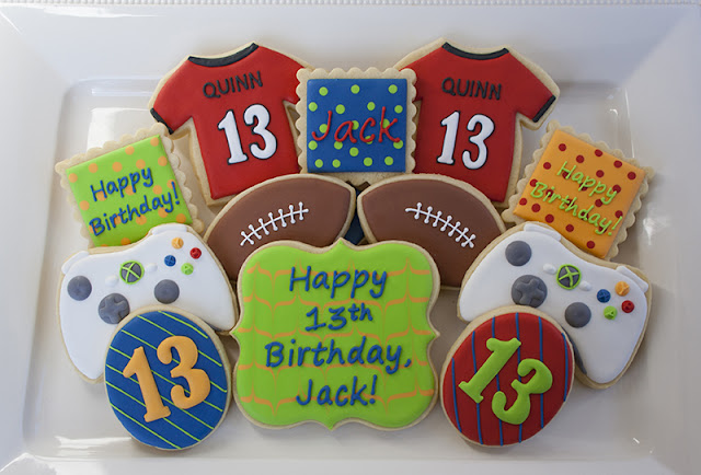 13th birthday cookies