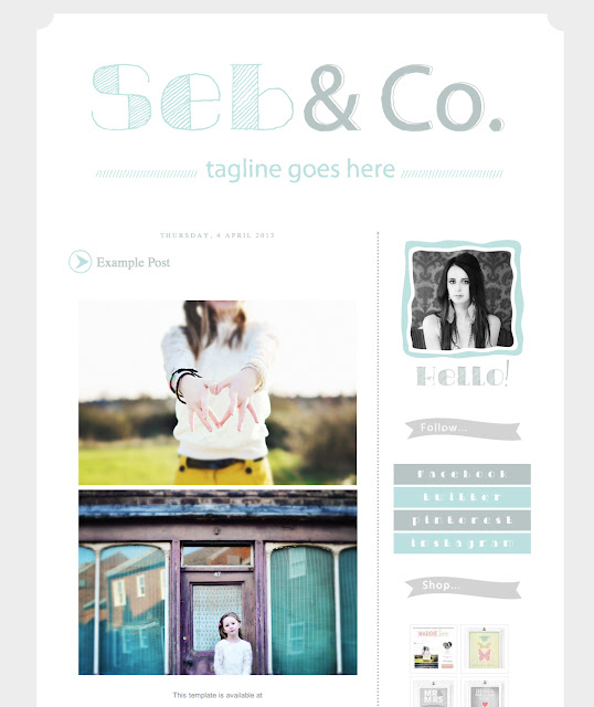 Blogger Design, Blog Templates, Premade Blog, Custom Blog, Blogger XML, Cute Blog Templates, Etsy Design, Blogspot Design