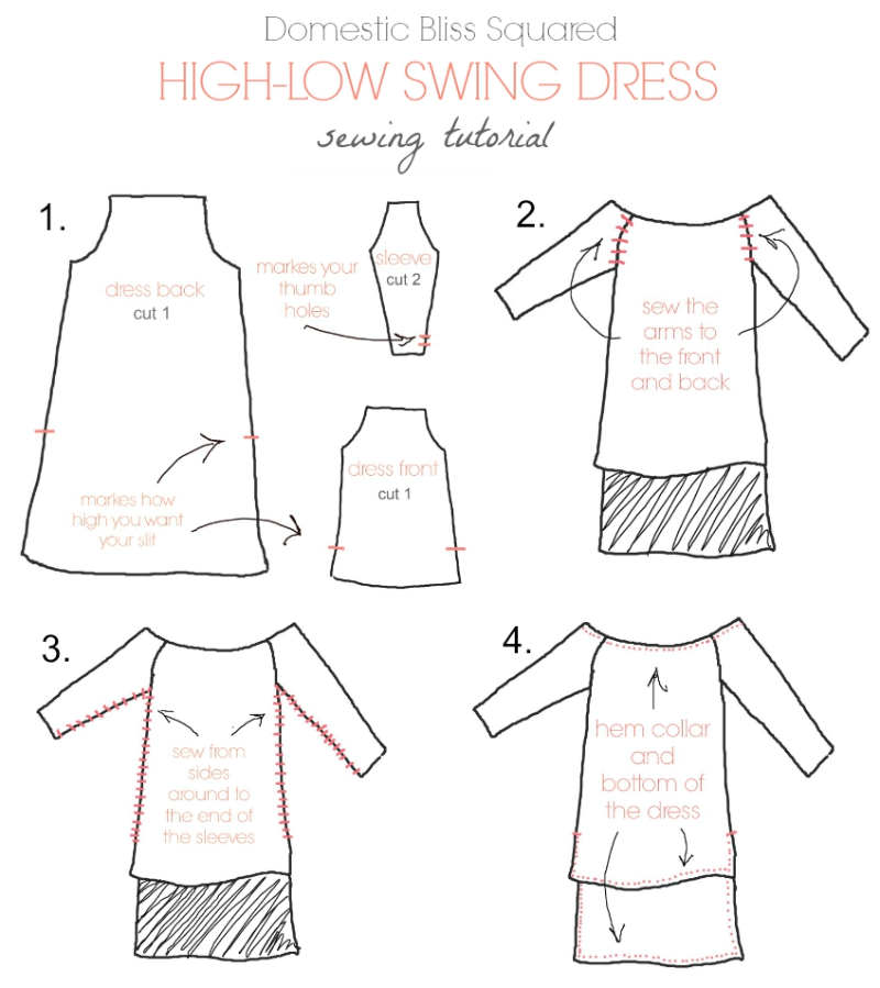 high-low swing dress sewing tutorial