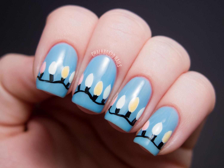 christmas lights on nails