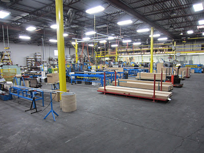Aluminum forming equipment at Buchner's