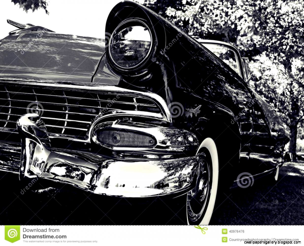 Black And White Classic Car Royalty Free Stock Images   Image 8371159