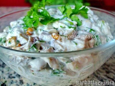 Salata de ciuperci cu nuca reteta
