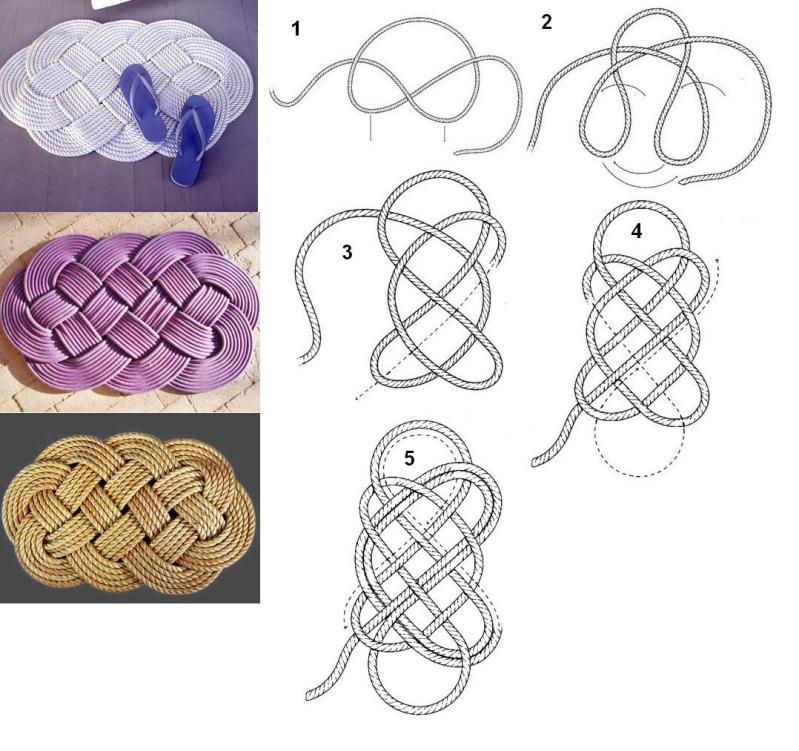 Плетение ковриков из шпагата своими руками мастер класс 45